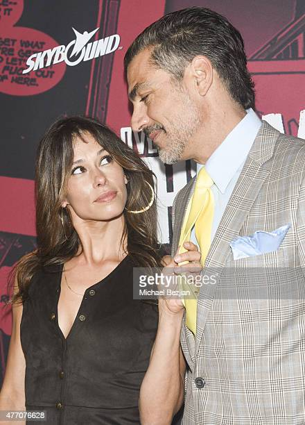 Actress Angela Gots and Actor Eric Etebari attend Overkill's The Walking Dead on June 13 2015 in West Hollywood California