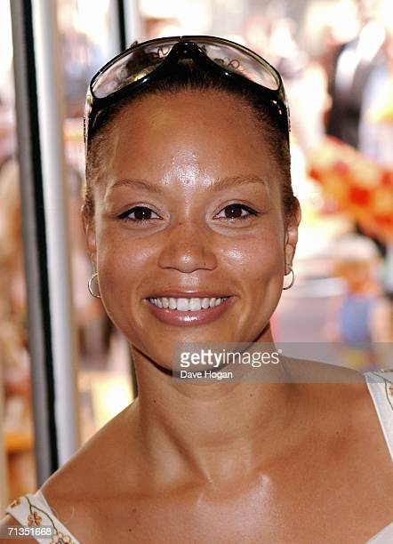 Actress Angela Griffin arrives at the UK Premiere of 'Bob The Builder Built To Be Wild' at the Odeon West End on July 2 2006 in London England