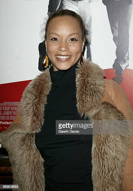 Actress Angela Griffin arrives at the UK Premiere of 'The Matador' at the Coronet Cinema on February 21 2006 in London England