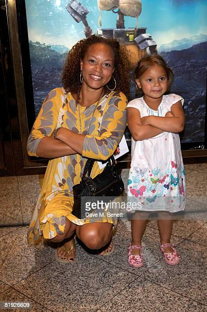 Actress Angela Griffin attends the UK Premiere of WALLE at the Empire Cinema Leicester Square on July 13 2008 in London England