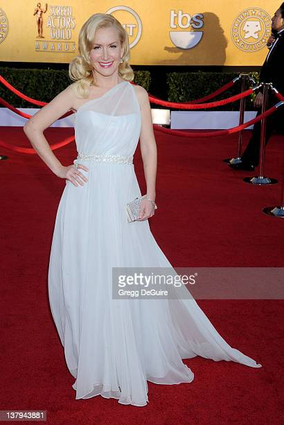 Actress Angela Kinsey arrives at 18th Annual Screen Actors Guild Awards at The Shrine Auditorium on January 29, 2012 in Los Angeles, California.
