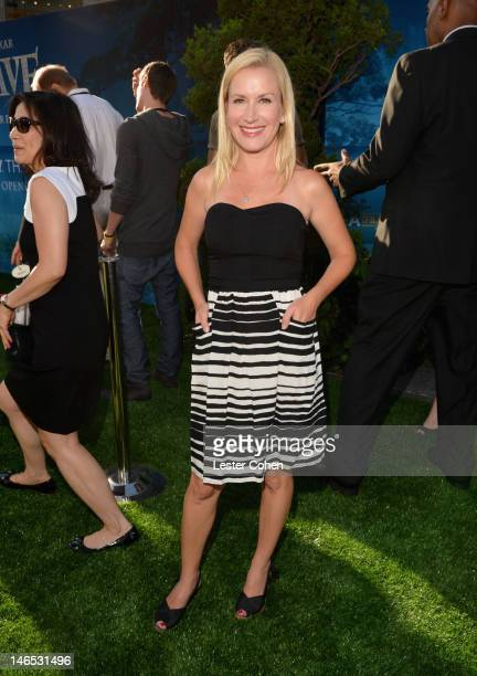 Actress Angela Kinsey arrives at Disney Pixar's Brave World Premiere at Dolby Theatre on June 18 2012 in Hollywood California