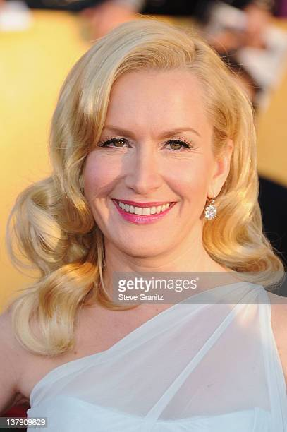 Actress Angela Kinsey arrives at the 18th Annual Screen Actors Guild Awards held at The Shrine Auditorium on January 29 2012 in Los Angeles California