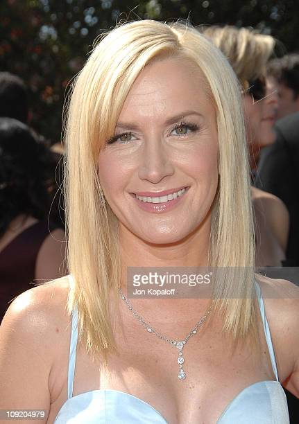 Actress Angela Kinsey arrives at the 59th Primetime EMMY Awards at the Shrine Auditorium on September 16 2007 in Los Angeles California