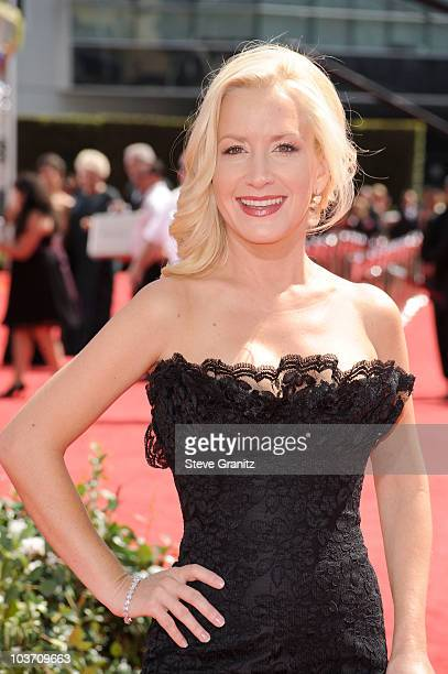 Actress Angela Kinsey arrives at the 62nd Annual Primetime Emmy Awards held at the Nokia Theatre LA Live on August 29 2010 in Los Angeles California