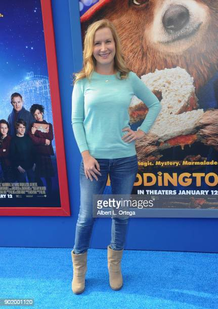 Actress Angela Kinsey arrives for the premiere of Warner Bros Pictures' 'Paddington 2' held at Regency Village Theatre on January 6 2018 in Westwood...