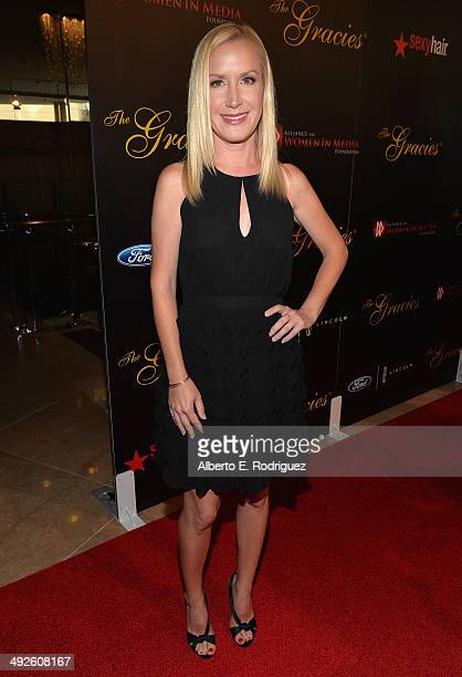 Actress Angela Kinsey arrives to the 39th Gracie Awards Gala at The Beverly Hilton Hotel on May 20 2014 in Beverly Hills California