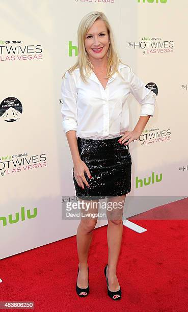 Actress Angela Kinsey attends a screening of Hulu and Paramount Digital Entertainment's The Hotwives of Las Vegas at the Sherry Lansing Theatre at...