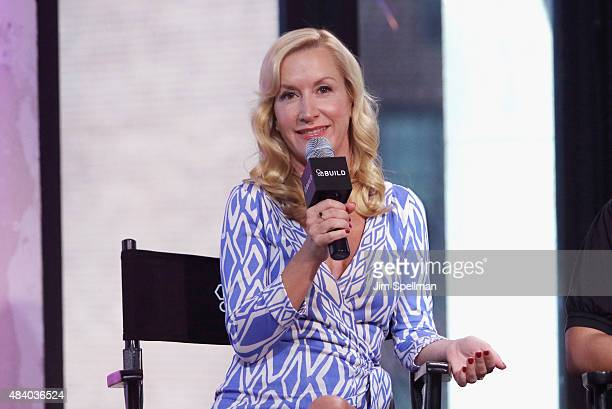 Actress Angela Kinsey attends AOL Build Presents The Hotwives Of Las Vegas at AOL Studios In New York on August 14 2015 in New York City