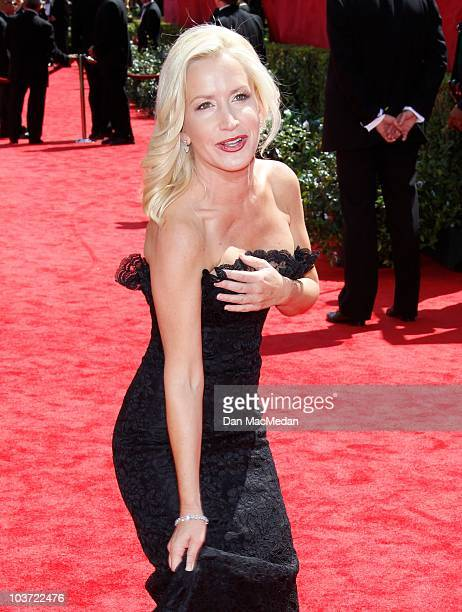 Actress Angela Kinsey attends the 62nd Annual Primetime Emmy Awards at Nokia Theatre Live LA on August 29 2010 in Los Angeles California