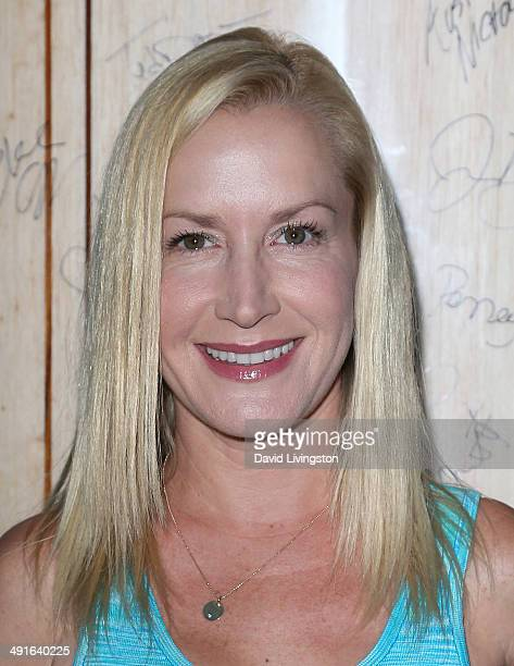 Actress Angela Kinsey attends the Nautica and LA Confidential's Oceana Beach House Party at the Marion Davies Guest House on May 16 2014 in Santa...