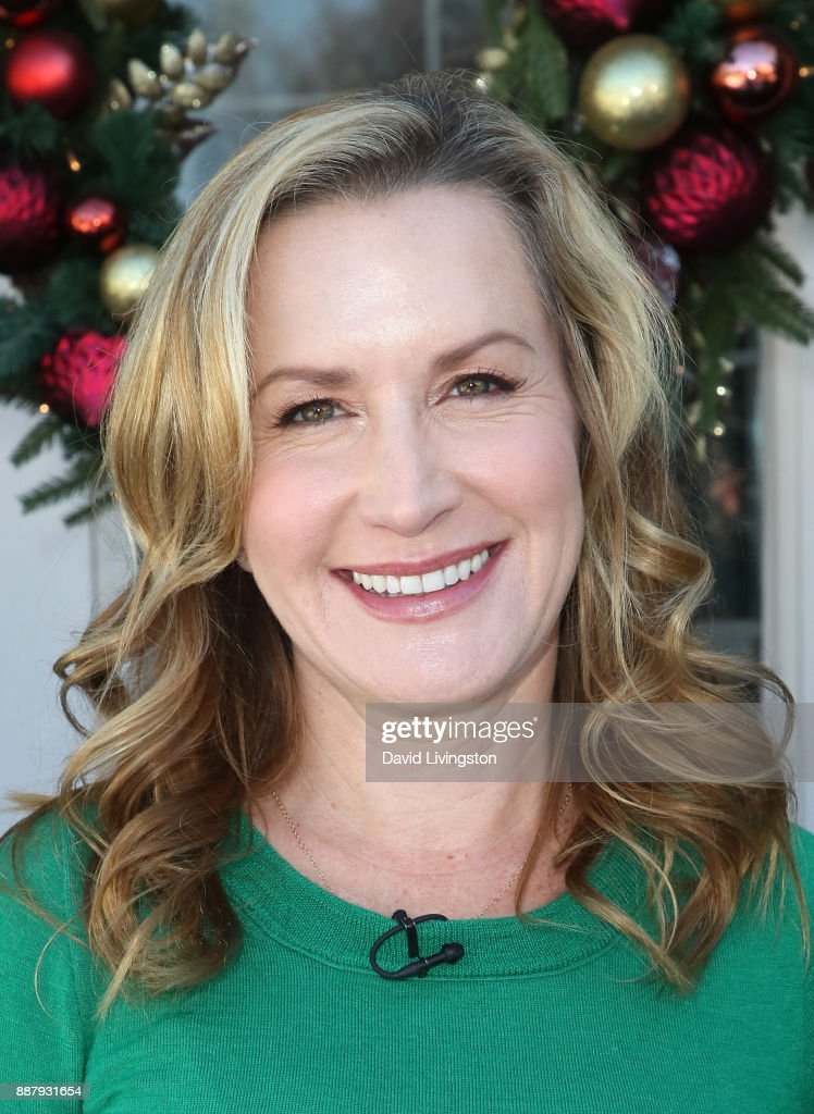 Actress Angela Kinsey visits Hallmark's 'Home & Family' at Universal Studios Hollywood on December 7, 2017 in Universal City, California.
