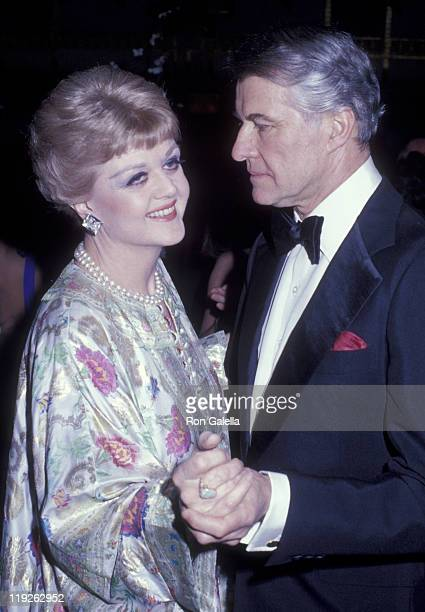 Actress Angela Lansbury and husband Peter Shaw attend Metropolitan Museum of Art Costume Institute Exhibit Fashions of the Hapsburg Era on December 3...
