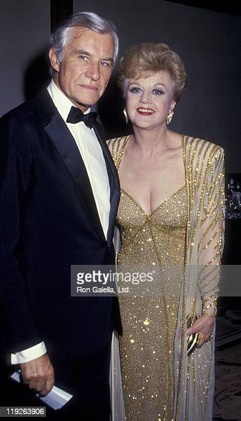 Actress Angela Lansbury and husband Peter Shaw attend the party for 41st Annual Tony Awards on June 7 1987 at the New York Hilton Hotel in New York...