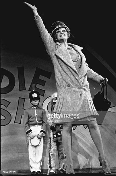 Actress Angela Lansbury appearing as Rose in the musical Gypsy.