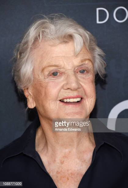 Actress Angela Lansbury arrives at National Geographic's Los Angeles Premiere of Science Fair at Royce Hall on September 15 2018 in Los Angeles...
