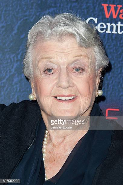 Actress Angela Lansbury arrives at the Opening Night of 'Merrily We Roll Along' at the Wallis Annenberg Center for the Performing Arts on November 30...