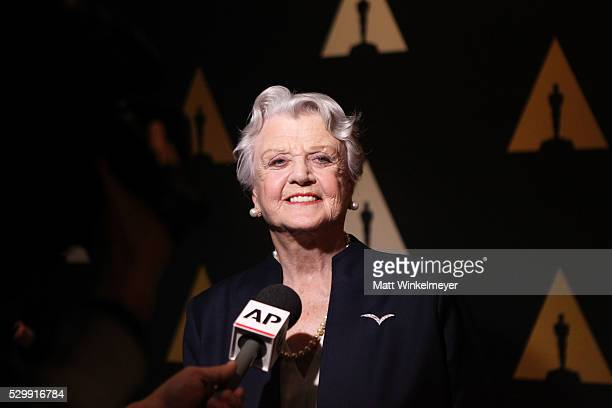 Actress Angela Lansbury attends the 25th Anniversary screening of Beauty and the Beast A Marc Davis Celebration of Animation at Samuel Goldwyn...