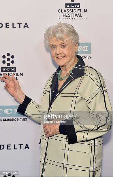 Actress Angela Lansbury attends 'The Manchurian Candidate' during day 2 of the TCM Classic Film Festival 2016 on April 29 2016 in Los Angeles...