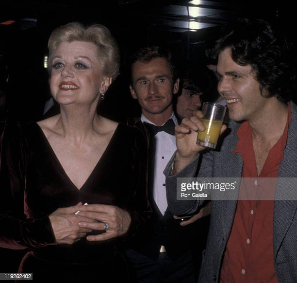 Actress Angela Lansbury husband Peter Shaw and son Anthony Shaw attend Ruby Awards on December 16 1979 at New York New York Disco in New York City