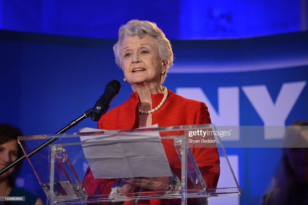 Actress Angela Lansbury speaks at the NY1 20th Anniversary party, in celebration of two decades of the New York City news channel at New York Public Library on October 11, 2012 in New York City.