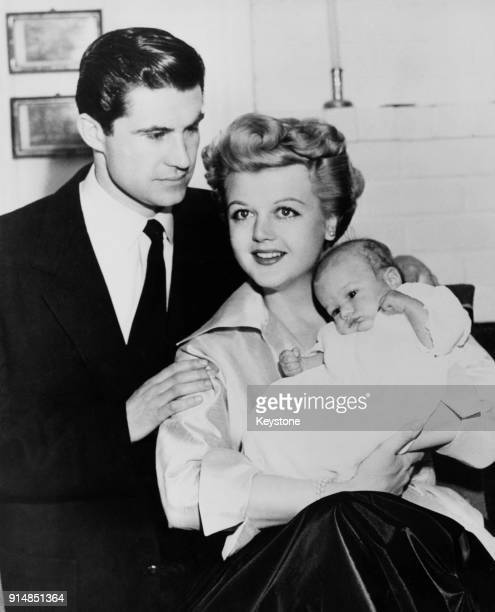 Actress Angela Lansbury with her husband actor Peter Shaw and their threemonthold son Anthony Peter at their home in Hollywood California 1952