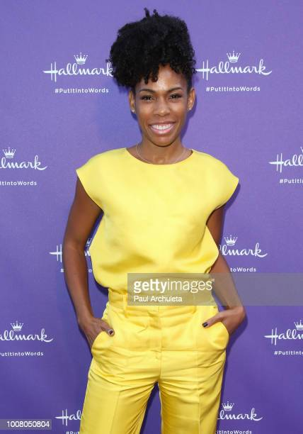 Actress Angela Lewis attends Hallmark's 'Put In Into Words' campaign launch party at Lombardi House on July 30 2018 in Los Angeles California