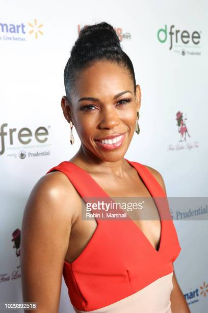 Actress Angela Lewis attends the 21st Annual First Ladies High Tea at The Beverly Hilton Hotel on September 8 2018 in Beverly Hills California