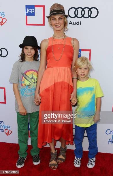 Actress Angela Lindvall and her family attend the First Annual Children Mending Hearts Style Sunday on June 9 2013 in Beverly Hills California