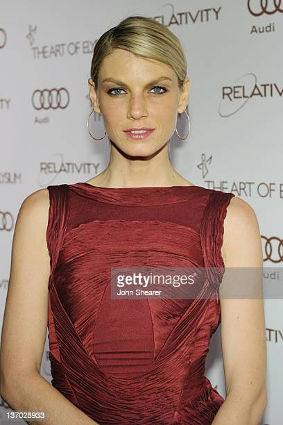 Actress Angela Lindvall arrives at Audi presents The Art of Elysium's 5th annual HEAVEN at Union Station on January 14, 2012 in Los Angeles,...