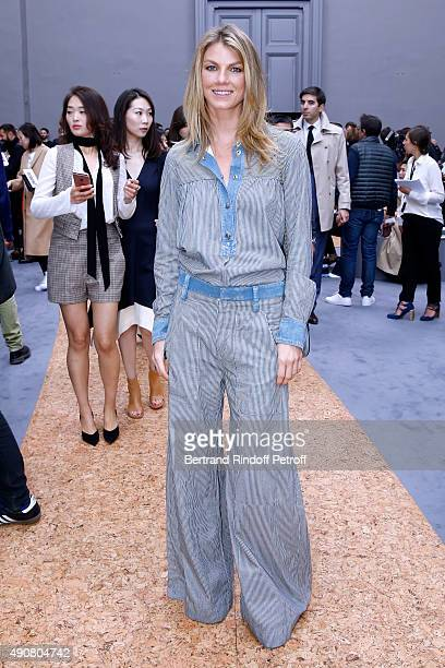 Actress Angela Lindvall attends the Chloe show as part of the Paris Fashion Week Womenswear Spring/Summer 2016 Held at Grand Palais on October 1 2015...