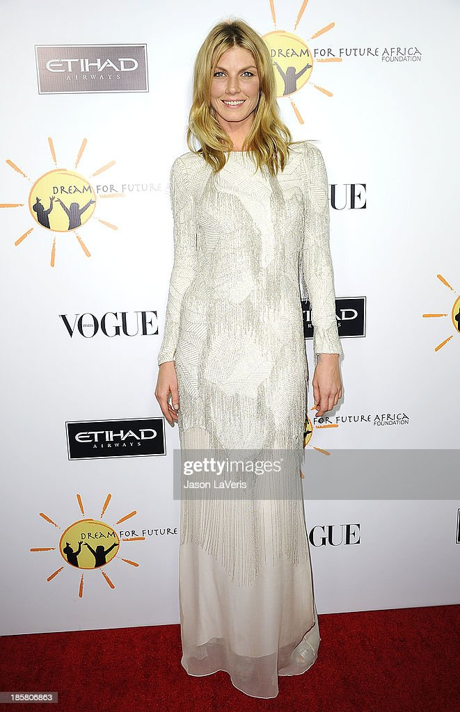 Actress Angela Lindvall attends the Dream For Future Africa Foundation gala at Spago on October 24, 2013 in Beverly Hills, California.