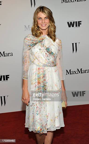 Actress Angela Lindvall attends the Max Mara and W Magazine cocktail party to honor the Women In Film Max Mara Face of the Future Awards recipient...