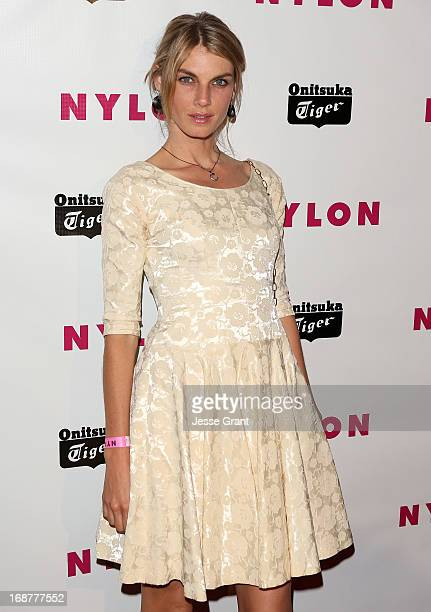 Actress Angela Lindvall attends the NYLON Magazine Annual May Young Hollywood Issue Party at The Roosevelt Hotel on May 14 2013 in Hollywood...
