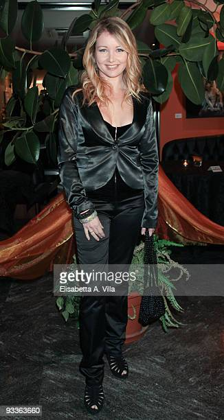 Actress Angela Melillo attends '2009 Margutta Awards' at Margutta RistoArte on November 24 2009 in Rome Italy