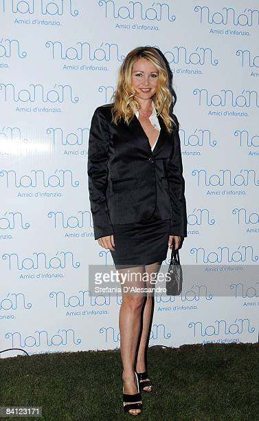 Actress Angela Melillo attends The Nanan store opening on September 18 2008 in Milan Italy