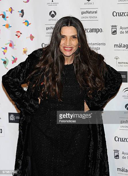 Actress Angela Molina attends 'Malaga Film Festival' presentation party at Casa de America on March 23 2010 in Madrid Spain