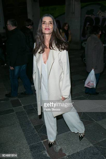 Actress Angela Molina is seen arriving to the 'Fotogramas de Plata' awards at the Joy Eslava Club on February 26 2018 in Madrid Spain