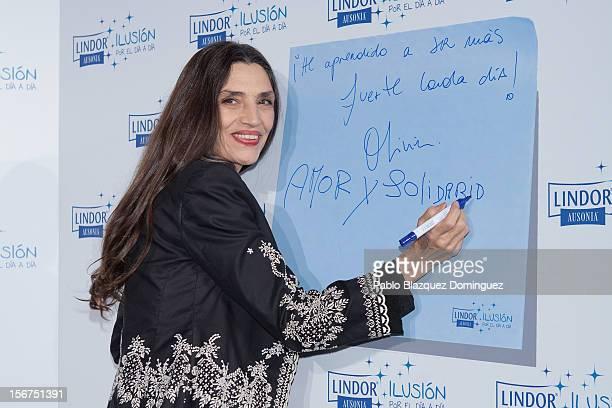 Actress Angela Molina presents 'Ilusion Por el Dia a Dia' Campaign at Espacio CoolRoom on November 20 2012 in Madrid Spain