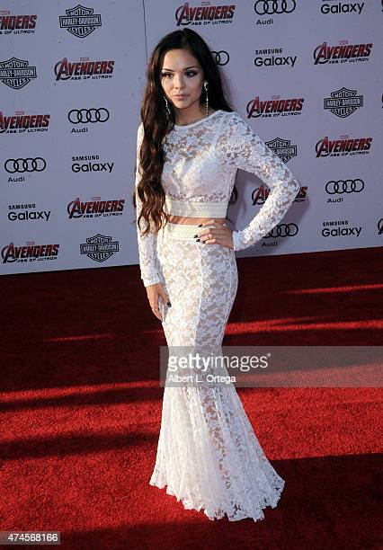 Actress Angela Moreno arrives for the Premiere Of Marvel's Avengers Age Of Ultron held at Dolby Theatre on April 13 2015 in Hollywood California