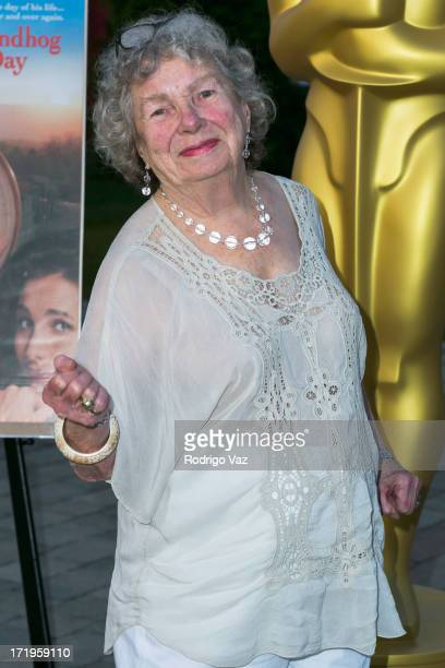 Actress Angela Paton attends The Academy of Motion Picture Arts and Sciences hosts Oscars Outdoors with a screening of Groundhog Day at Oscars...