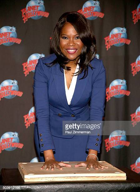 Actress Angela Robinson attends Angela Robinson's Planet Hollywood Handprint Ceremony at Planet Hollywood Times Square on January 7 2016 in New York...