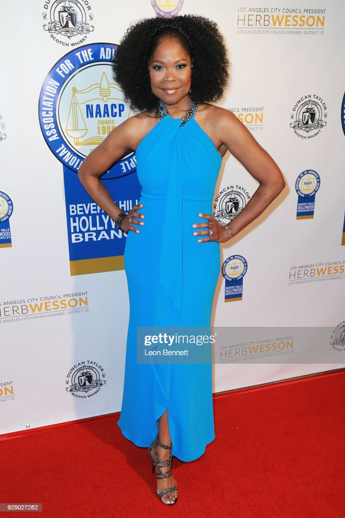 Actress Angela Robinson attends the 27th Annual NAACP Theatre Awards at Millennium Biltmore Hotel on February 26, 2018 in Los Angeles, California.
