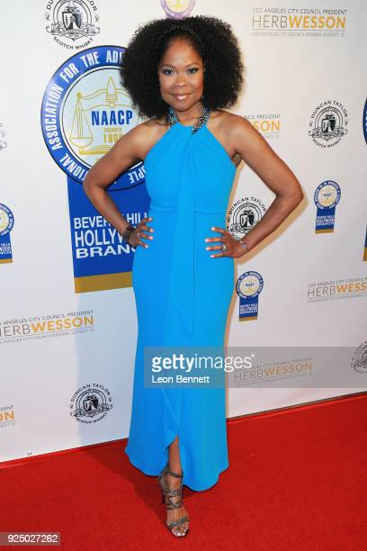 Actress Angela Robinson attends the 27th Annual NAACP Theatre Awards at Millennium Biltmore Hotel on February 26 2018 in Los Angeles California