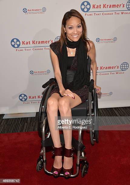 Actress Angela Rockwood attends Kat Kramer's 'Films That Change The World' on April 10 2015 in Hollywood California