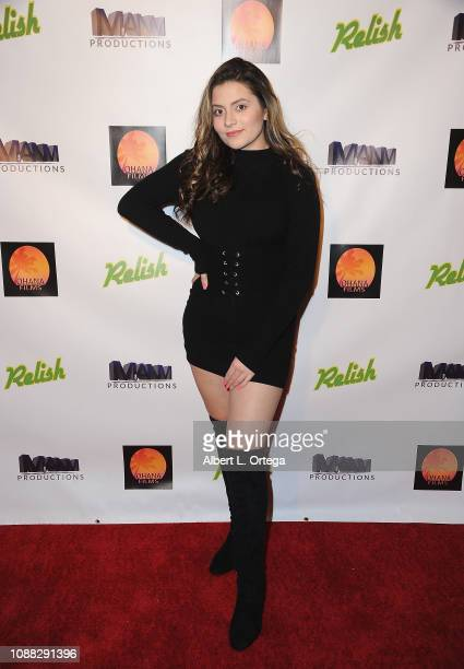 Actress Angela Ryan arrives for the Screening Of Relish held at Pacific Theatres at The Grove on January 24 2019 in Los Angeles California