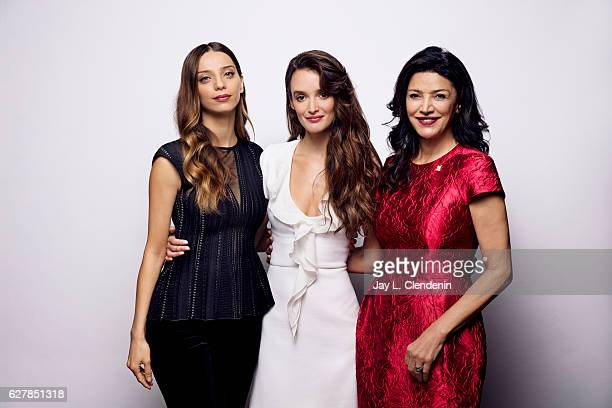 Actress Angela Sarafyan actress Shohreh Aghdashloo and actress Charlotte Le Bon from the film 'The Promise' pose for a portrait at the Toronto...