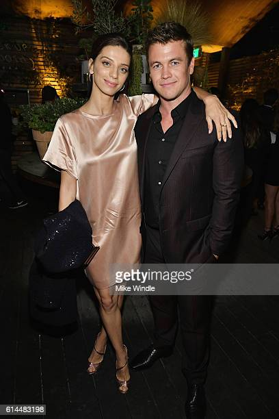 Actress Angela Sarafyan and actor Luke Hemsworth attend People's 'Ones to Watch' event presented by Maybelline New York at EP LP on October 13 2016...