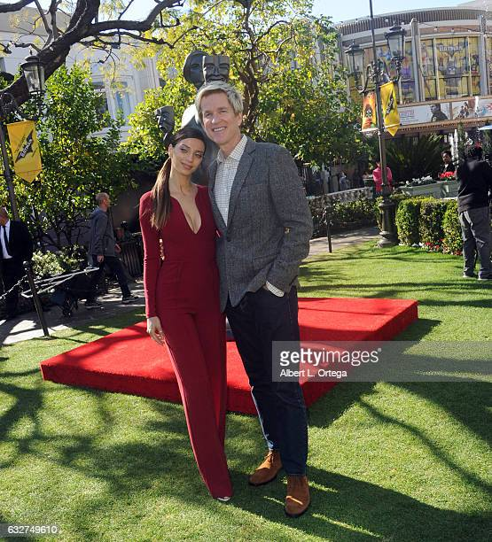 Actress Angela Sarafyan and actor Matthew Modine at the 23rd Annual Screen Actors Guild Awards Greet The Actor held at The Grove on January 25 2017...