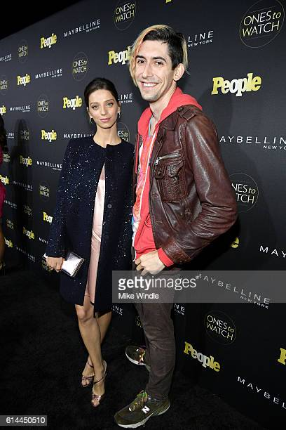 Actress Angela Sarafyan and screenwriter Max Landis attend People's 'Ones to Watch' event presented by Maybelline New York at EP LP on October 13...